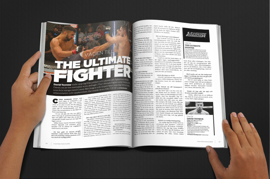 David Teymur Fighter Magazine